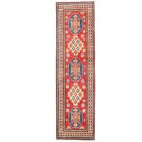 Herat Oriental Afghan Hand-knotted Kazak Wool Runner (2'8 x 9'6) - 2'8 x 9'6