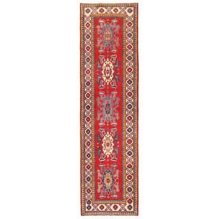 Herat Oriental Afghan Hand-knotted Kazak Wool Runner (2'8 x 9'9)