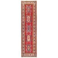 Handmade Herat Oriental Afghan Kazak Wool Runner (Afghanistan) - 2'8 x 9'9