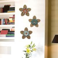 Stratton Home Burlap Flower Wall Decor