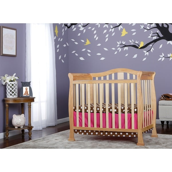 Shop Dream On Me Naples Natural Finish Wood Mini Crib