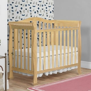 Dream On Me Naples Natural-finish Wood Mini Crib