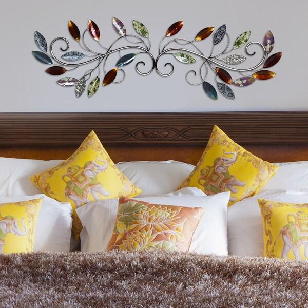 Stratton Home Decor Patina Scroll Leaf Metal Wall Art ~ Shop stratton home decor metal multi leaf scroll wall