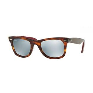 Ray-Ban Wayfarer RB2140 117830 Unisex Bi-color Tortoise Frame Silver Flash Mirror Lens Sunglasses