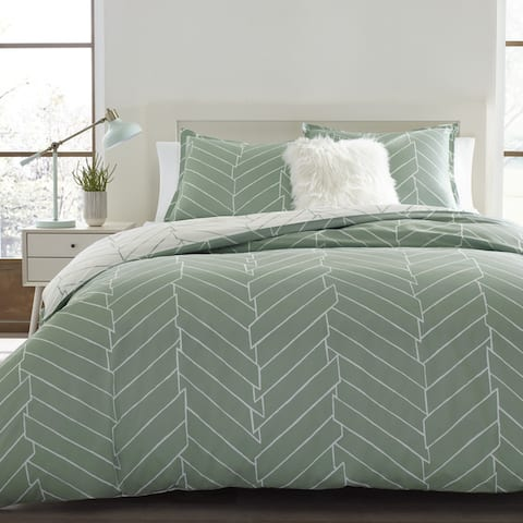 Carson Carrington Gjosund Green Cotton Comforter Set