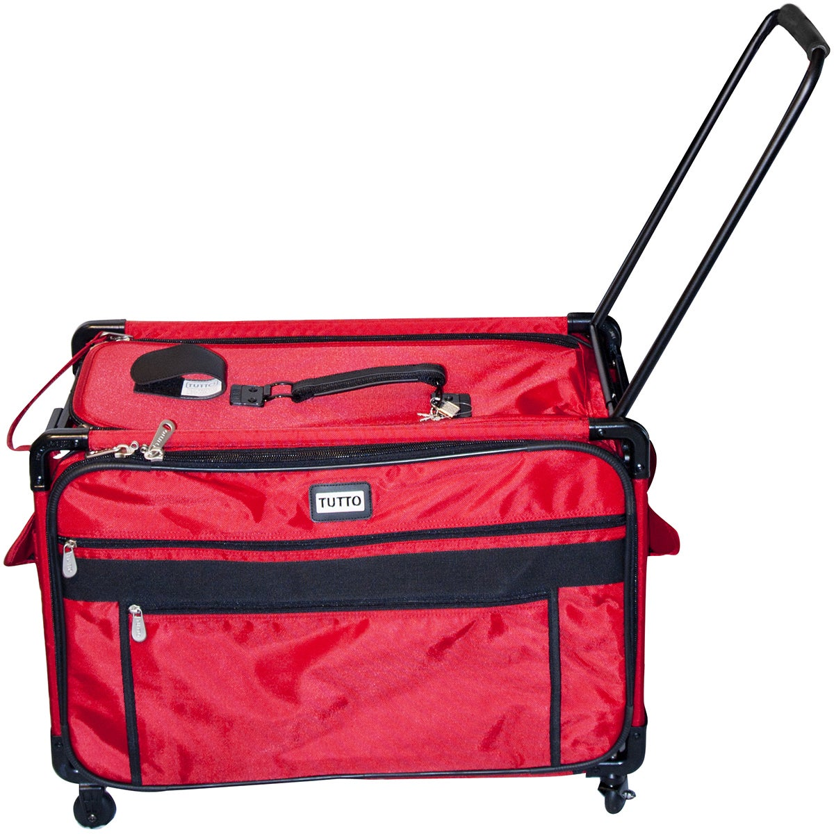 TUTTO Machine On Wheels Case (Red) (Synthetic Fiber)