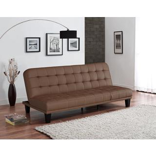 DHP Metropolitan Camel Tan Faux Leather Futon Lounger