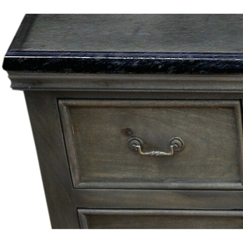 Y-Decor Antique Grey Solid Mango Wood 60-inch Single Bathroom Vanity