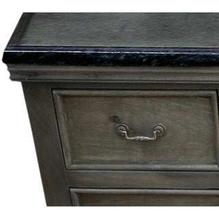 Antique Grey Solid Mango Wood 60-inch Single Bathroom Vanity
