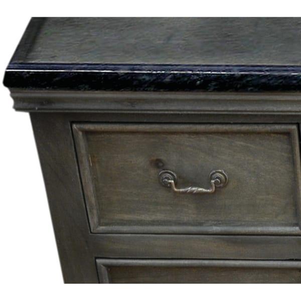 Y decor antique grey solid mango wood 60 inch single - 60 inch unfinished bathroom vanity ...