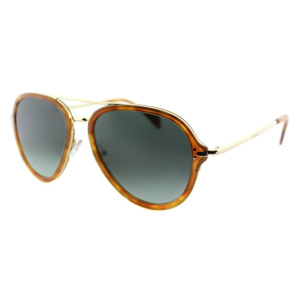 Celine Havana Sunglasses  celine cl 41374 ufp light havana and gold aviator sunglasses blue