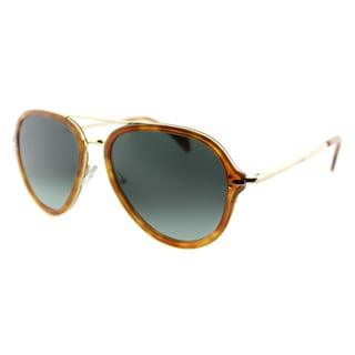 Celine CL 41374 UFP Light Havana And Gold Aviator Sunglasses Blue Gradient Lens