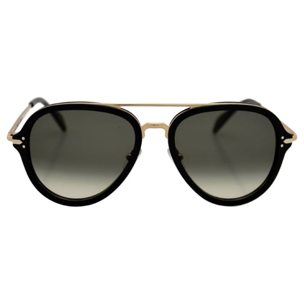 5b1d194306f Celine CL 41374 ANW Black And Gold Aviator Sunglasses Grey Gradient Lens