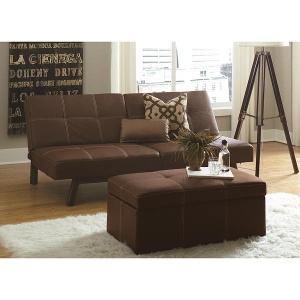 Shop Dhp Delaney Brown Split Back Futon Free Shipping