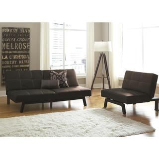 DHP Delaney Black Split-back Futon