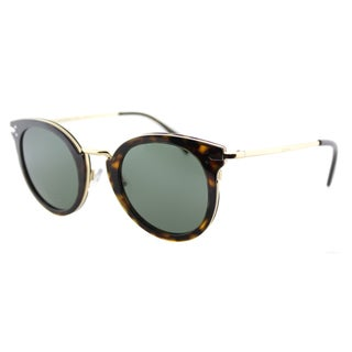 Celine CL 41373 ANT Dark Havana And Gold Round Sunglasses Grey Green Lens