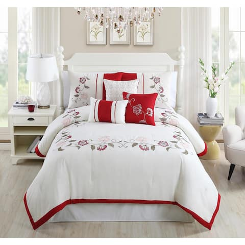Calla Embroidered 7-piece Comforter Set