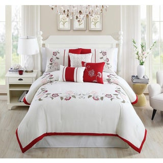 Calla Embroidered 7-piece Comforter Set