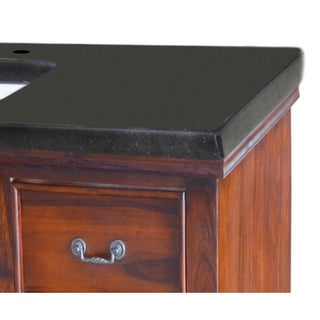 Y-Decor 48-inch Bath Vanity Black Granite Top with Rectangular Sink