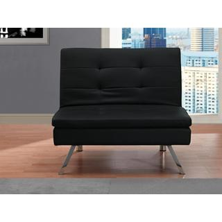 Dhp Chelsea Black Ottoman Free Shipping Today