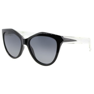 Givenchy GV 7009 AM3 Black Crystal Plastic Cat-Eye Sunglasses Grey Gradient Lens