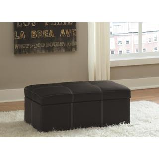 DHP Delaney Black Large Rectangular Ottoman