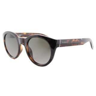Givenchy GV 7003 LSD Dark Havana Plastic Round Sunglasses Brown Gradient Lens