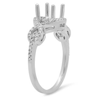 Elora 14k Gold 1/4ct TDW Round Diamond Swirl Bridal Semi Mount Engagement Ring (No Center Stone) (I-J, I1-