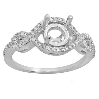 14k Gold 1/4ct TDW Round Diamond Swirl Bridal Semi Mount Engagement Ring (No Center Stone) (I-J, I1-I2)