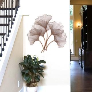 Stratton Home Decor Rose Gold Ginkgo Leaf Wall Decor