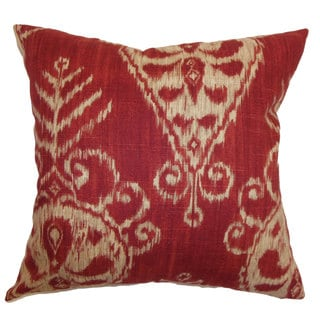 Hargeisa Ikat Throw Pillow Cover Ruby