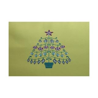 Beach Tree Geometric Print Indoor/ Outdoor Rug (4' x 6')