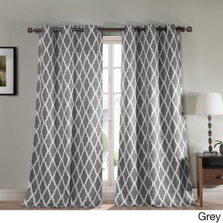 Donna Geometric Print Polyester Blackout Curtain Panel Pair