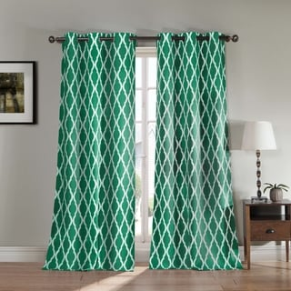 Donna Geometric Print Blackout Curtain Panel Pair