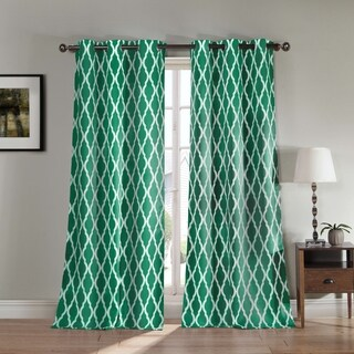 Donna Geometric Print Blackout Curtain Panel Pair
