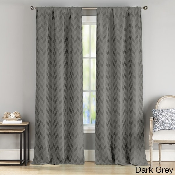 Duck River Joyce Metallic Blackout Curtain Panel Pair