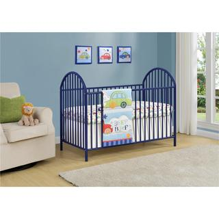 Ameriwood Home Prism Navy Metal Crib by Cosco