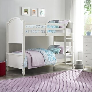 Avenue Greene Rosalyn White Twin over Twin Bunk Bed