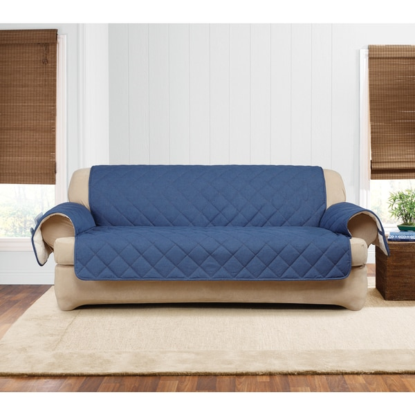 Shop Sure Fit Quilted Denim Sherpa Sofa Furniture