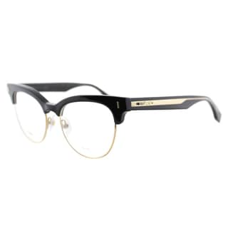 Fendi FF 0163 VJG Black And Gold Plastic 51-millimeter Cat-Eye Eyeglasses