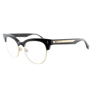 Fendi FF 0163 VJG Black And Gold Plastic 51-millimeter Cat-Eye Eyeglasses