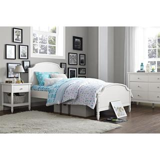 Dorel Living Vivienne White Twin Bed