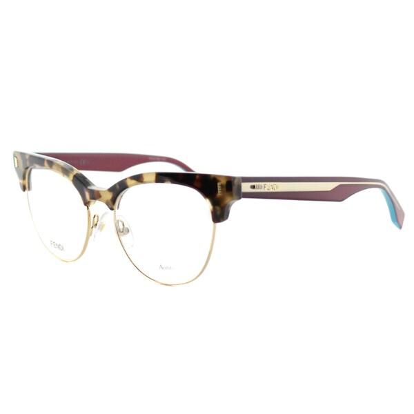 Fendi Glasses Gold Frames : Fendi Womens FF 0163 VHB Havana Cyclamen and Gold Plastic ...