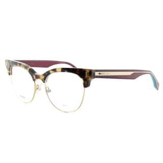 Fendi Women's FF 0163 VHB Havana Cyclamen and Gold Plastic 51-millimeter Cat-eye Eyeglasses|https://ak1.ostkcdn.com/images/products/11952382/P18838940.jpg?impolicy=medium