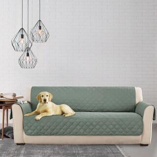 Sure Fit Microfiber Non Slip Sofa Pet Cover/Furniture Protector