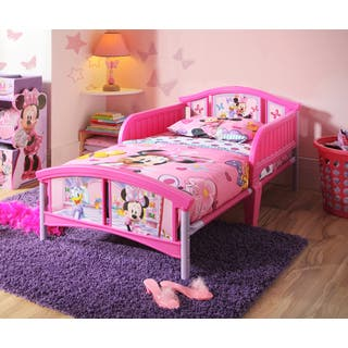 Disney Minnie Mouse Pink Purple White Plastic Toddler Bed