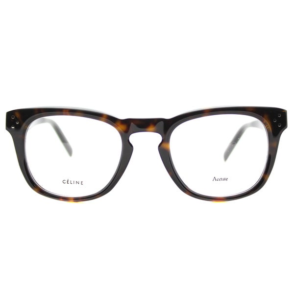 e9f71a91ac Shop Celine Women s Dark Havana Brown Plastic Square Eyeglasses - Free  Shipping Today - Overstock.com - 11952417