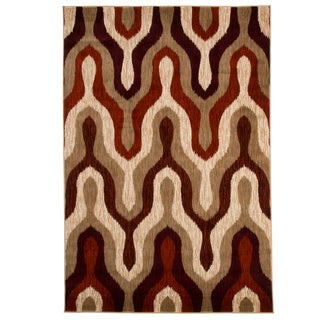 Windsor Home Opus Red Silhouette Area Rug (5'3 x 7'7)
