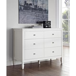 Dorel Living Vivienne White 6-Drawer Dresser