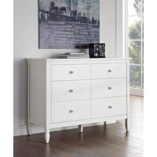 Dorel Living Vivienne White Six-Drawer Dresser|https://ak1.ostkcdn.com/images/products/11952422/P18838950.jpg?impolicy=medium